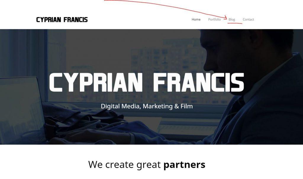 Cyprian Francis Blog