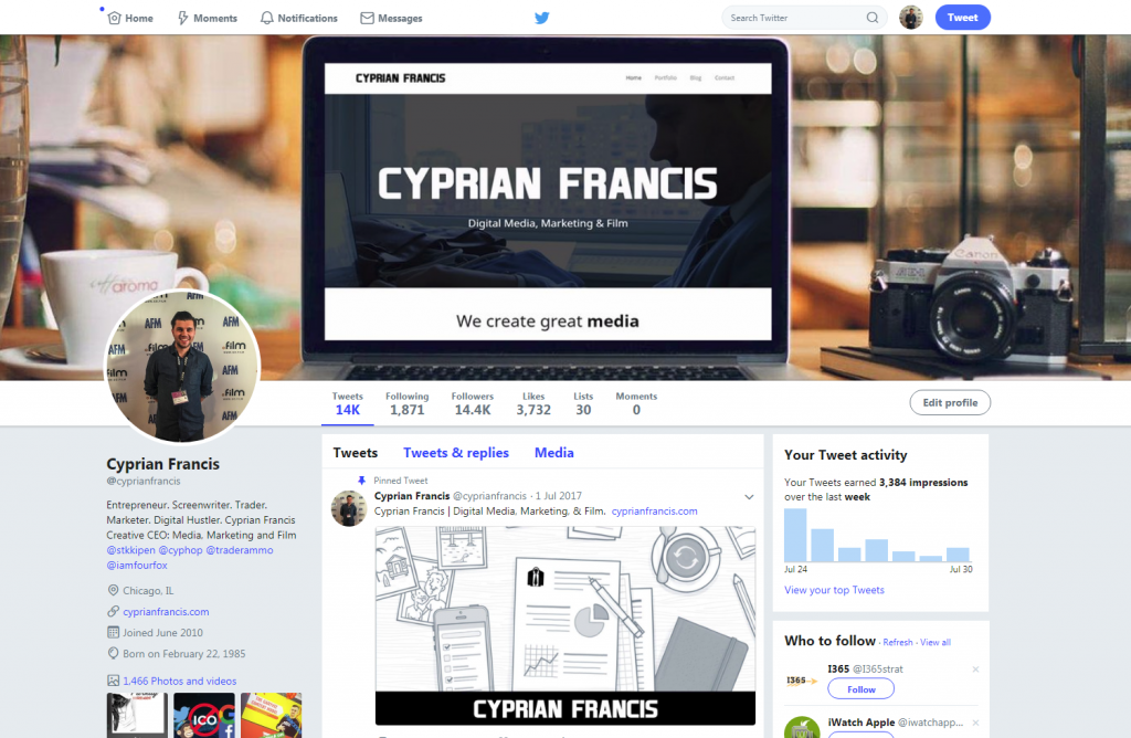 Cyprian Francis Twitter